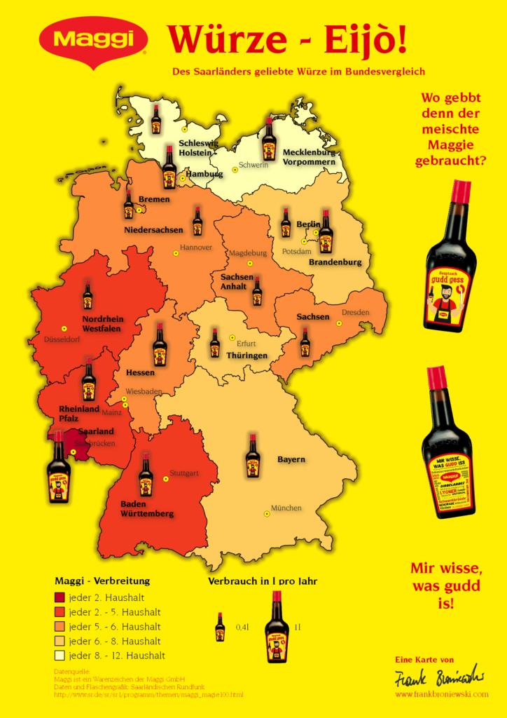 Maggi-Karte Des Saarländers geliebte Würze im Vergleich