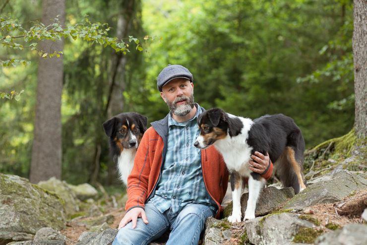 Frank Broniewski mit Lanie und Mac