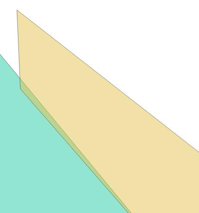 Geodaten-Fehler Topologie Überlappung